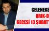 GELENEKSEL ARIK-DER GECESİ 13 ŞUBAT'TA