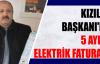 Kızılay Başkanı'na 5 aylık  Elektrik faturası