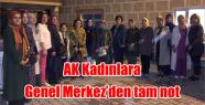 AK Kadınlara Genel Merkez'den tam not