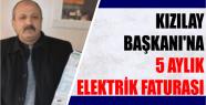 Kızılay Başkanı'na 5 aylık Elektrik...