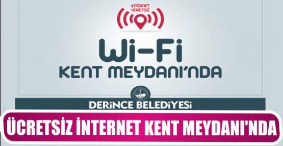 Ücretsiz internet Kent Meydanı'nda