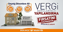 DERİNCE BELEDİYESİ'NDEN YAPILANDIRMA ÇAĞRISI