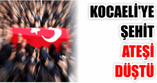 KOCAELİ'YE ŞEHİT ATEŞİ  DÜŞTÜ