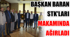 BAŞKAN BARAN STK'LARI MAKAMINDA AĞIRLADI