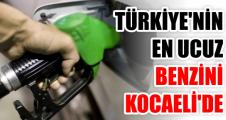 Türkiye'nin en ucuz benzini Kocaeli'de
