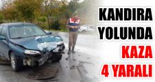Kandıra Yolunda Kaza 4 yaralı