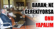 """Baran, """"Halkımızın Yararına Yapılacak Her Türlü Projenin Yanındayız"""""""