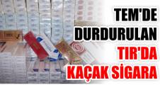 TEM'de durdurulan Tır'da kaçak sigara