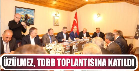 Üzülmez, TDBB Toplantısına Katıldı