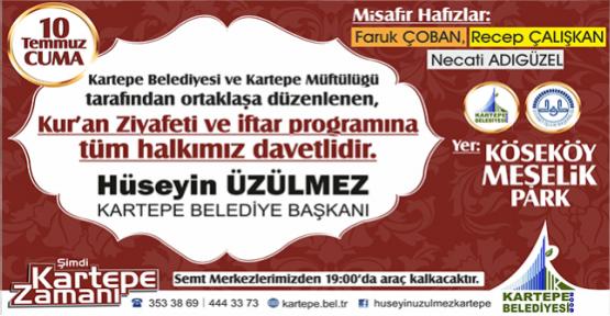 ÜZÜLMEZ'DEN İFTARA DAVET