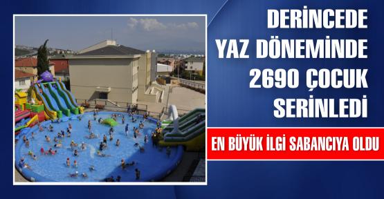 Yaz döneminde 2 bin 690 çocuk bu havuzlarda serinledi