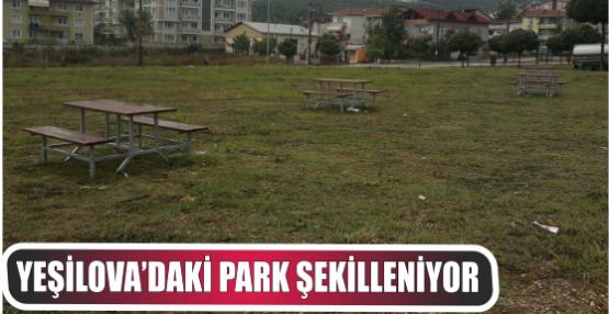 YEŞİLOVA'DAKİ PARK ŞEKİLLENİYOR