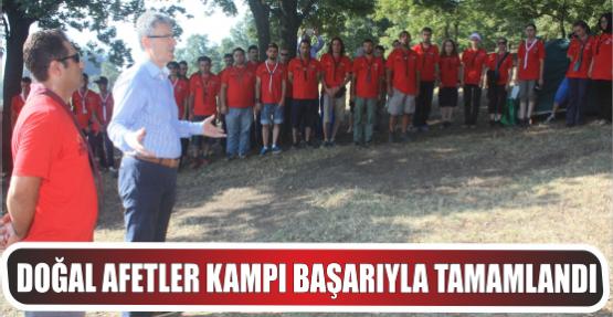 17 Ağustos Doğal Afetler Bilinç kampı başarıyla tamamlandı