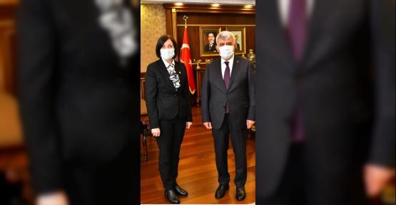 Rektör Sadettin Hülagü Muhtar Yiğit'i Ağırladı