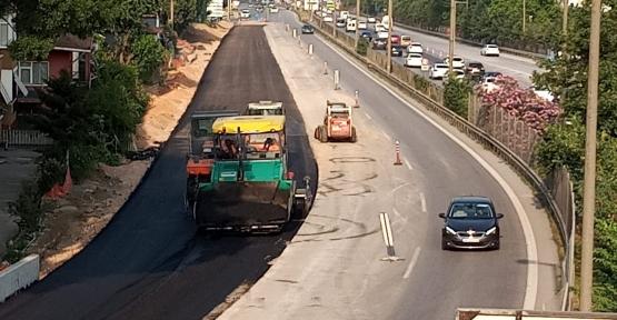 Kuruçeşme Tramvay Hattında Genişletilen Yola Asfalt Serildi