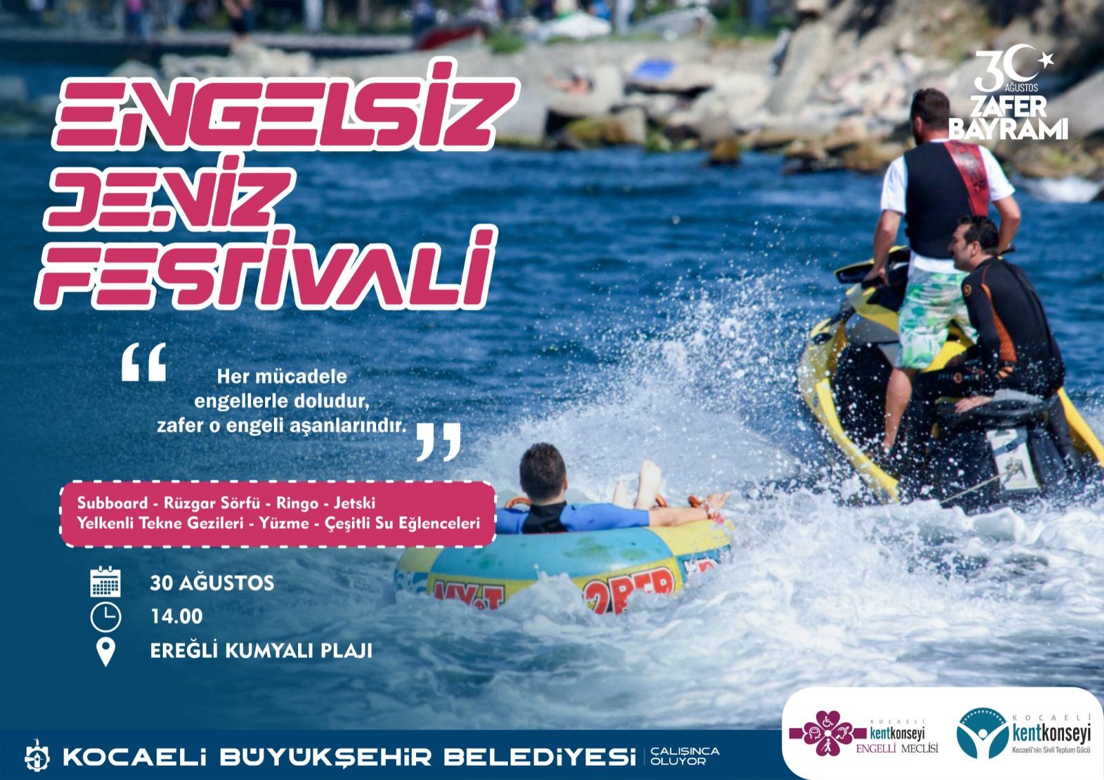 Kocaeli Büyükşehir'den Engelsiz Deniz Festivali