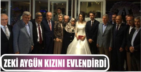 AKP milletvekili Aygün kızı Merve'yi evlendirdi