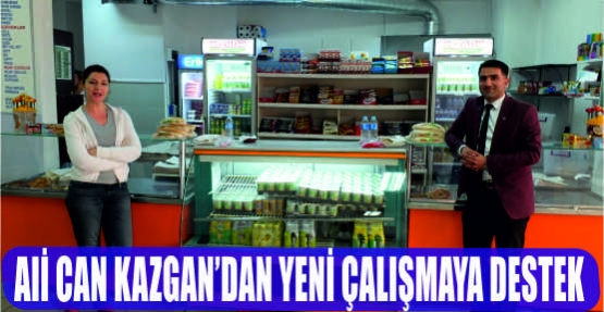 ALİ CAN KAZGAN'DAN YENİ ÇALIŞMAYA DESTEK