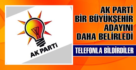 Başbakan Erdoğan tarafından dünkü grup toplantısında 5'i büyükşehir olmak üzere 10 ilin adayları açıklanmıştı. Bugün de Trabzon'un adayı belli oldu.