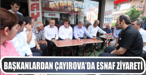 Başkanlardan Çayırova'da esnaf ziyareti