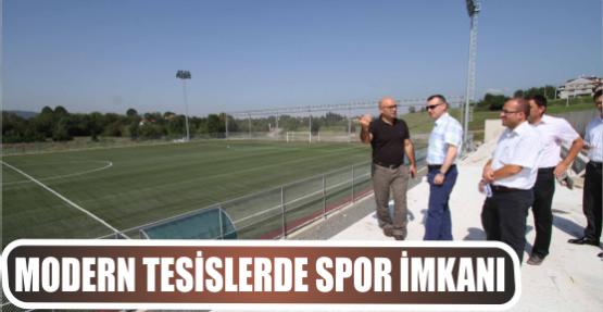 Büyükşehir modern tesislerde spor imkanı sunuyor
