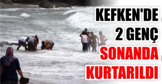 Cankurtaranlar dalgalarlaboğuşan iki genci kurtardı