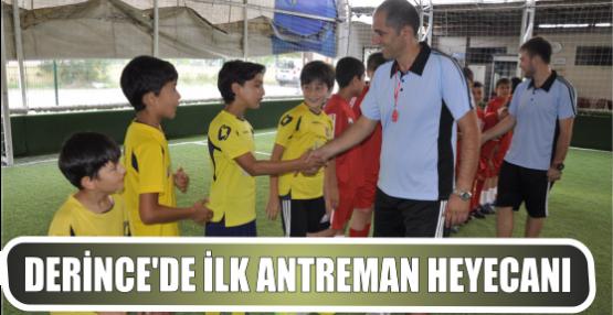 Derince Belediyesi Futbol Okulu'nda ilk antrenman heyecanı