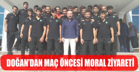 DOĞAN'DAN MAÇ ÖNCESİ KOCAELİSPOR'A MORAL ZİYARETİ