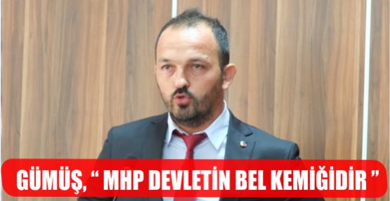 """GÜMÜŞ,""""MHP DEVLETİN BEL KEMİĞİDİR."""""""