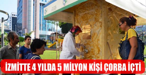 İZMİT'TE 5 MİLYON KİŞİ ÇORBA İÇTİ
