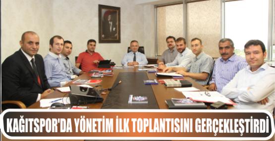 Kağıtspor'da, Yönetim İlk Toplantısını Gerçekleştrdi