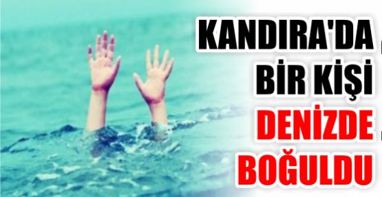 Kandıra'da bir kişi denizde kayboldu