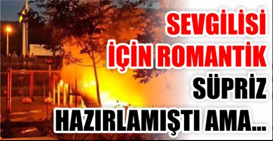 Karamürselli Neron parkı yaktı