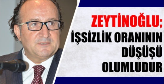 """Kocaeli Sanayi Odası Başkanı Ayhan Zeytinoğlu, """"İşsizlik oranının düşüşü olumludur"""