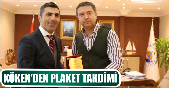 KÖKEN'DEN PLAKET TAKDİMİ