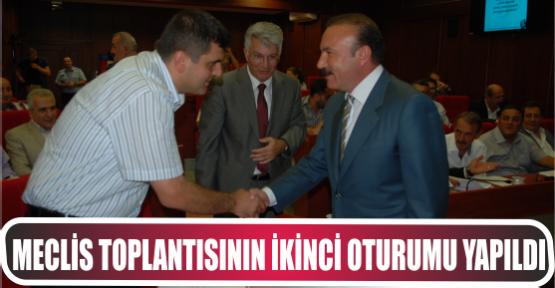 MECLİS TOPLANTISININ İKİNCİ OTURUMU YAPILDI