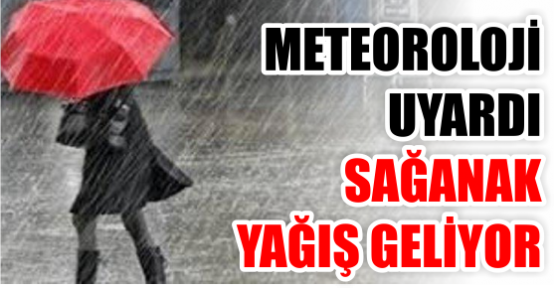 Meteoroloji uyardı... Sağanak yağmur geliyor!