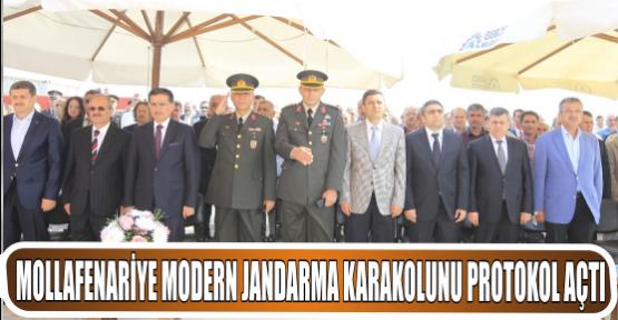 Mollafenariye modern Jandarma karakolunu protokol açtı