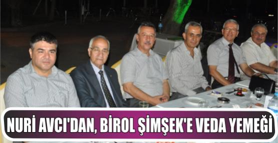 Nuri Avcı'dan, Tuğgeneral Birol Şimşek'e veda yemeği
