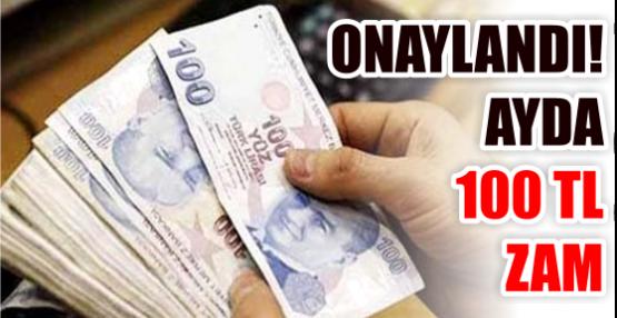 ONAYLANDI! AYDA 100 TL ZAM