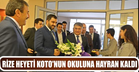 RİZE HEYETİ KOTO'NUN OKULUNA HAYRAN KALDI