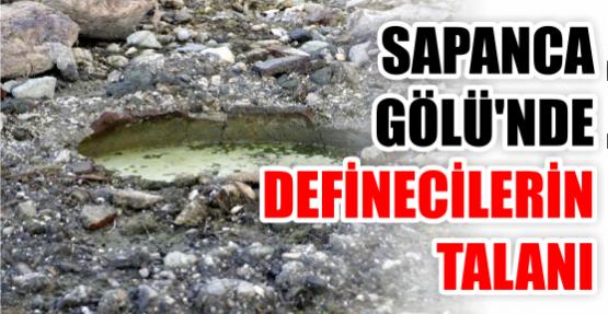Sapanca Gölü'nde definecilerin talanı görüntülendi