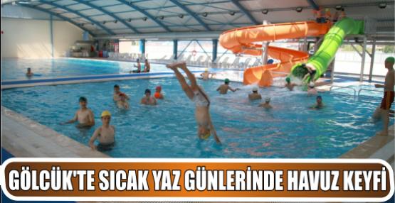 sıcak yaz günlerinde havuz keyfi