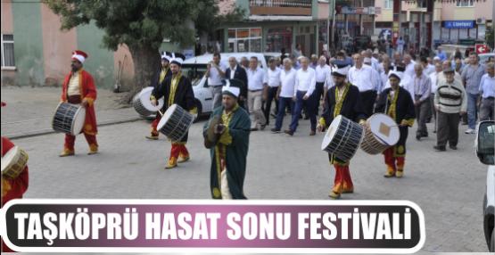 Taşköprü Hasat Sonu Festivali coşkulu bir şekilde başladı