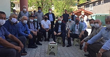 AYGÜN'DEN TERZİLER'DE BAYRAM ZİYARETİ
